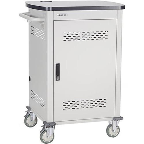 Black Box Adjustable-Shelf 30-Slot Charging Cart UCCSM-10-30HP