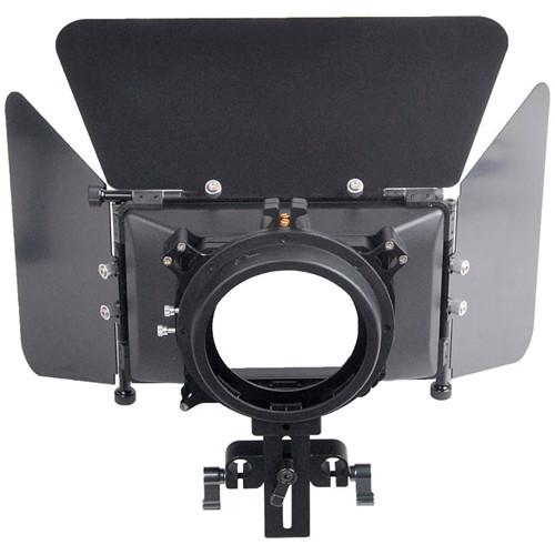 CAME-TV L-M3 DSLR Matte Box with Flag and 15mm Rod Adapter LM3