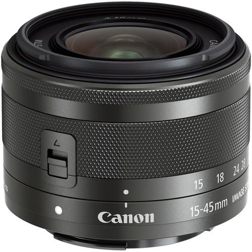 Canon EF-M 15-45mm f/3.5-6.3 IS STM Lens (Graphite) 0572C002