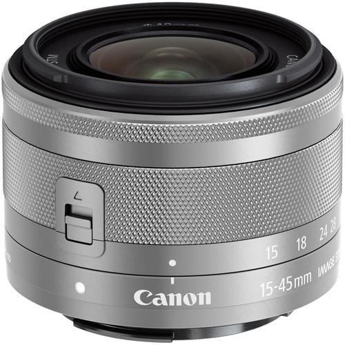 Canon EF-M 15-45mm f/3.5-6.3 IS STM Lens (Silver) 0597C002