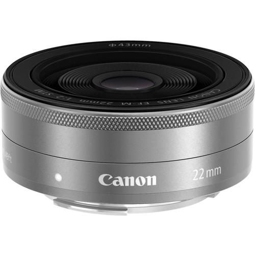 Canon  EF-M 22mm f/2 STM Lens (Silver) 9808B002