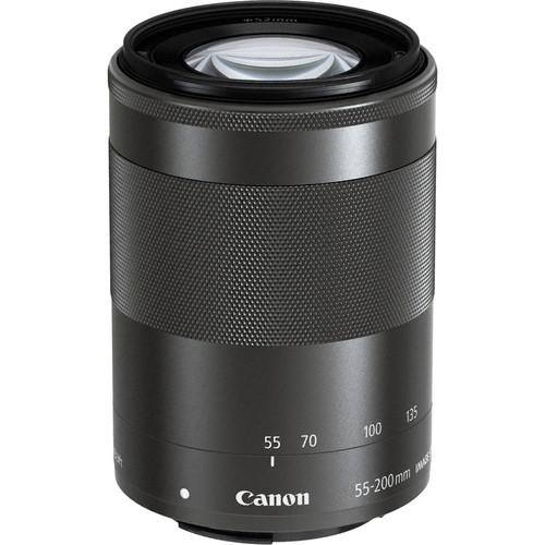 Canon EF-M 55-200mm f/4.5-6.3 IS STM Lens (Black) 9517B002