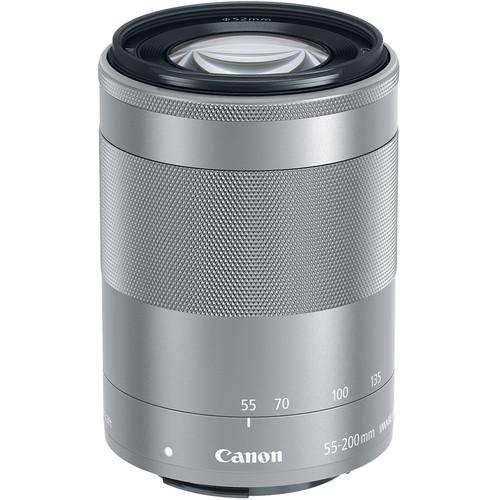 Canon EF-M 55-200mm f/4.5-6.3 IS STM Lens (Silver) 1122C002