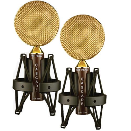 Cascade Microphones FAT HEAD Ribbon Mic Matched Stereo Pair Kit