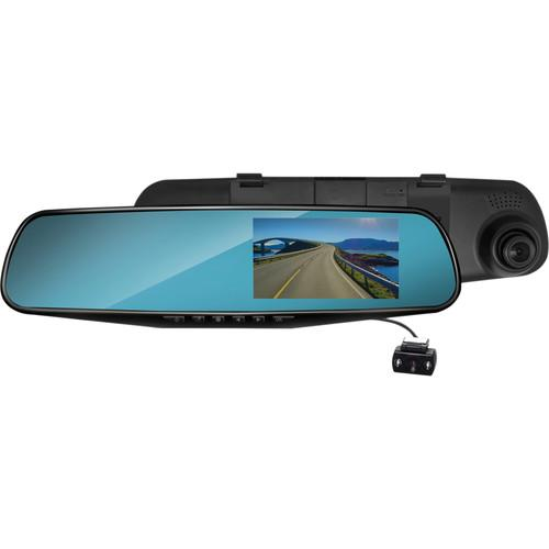 Coby 1080p HD Rear View Mirror Dashcam with 2 Cameras DCHDM-306