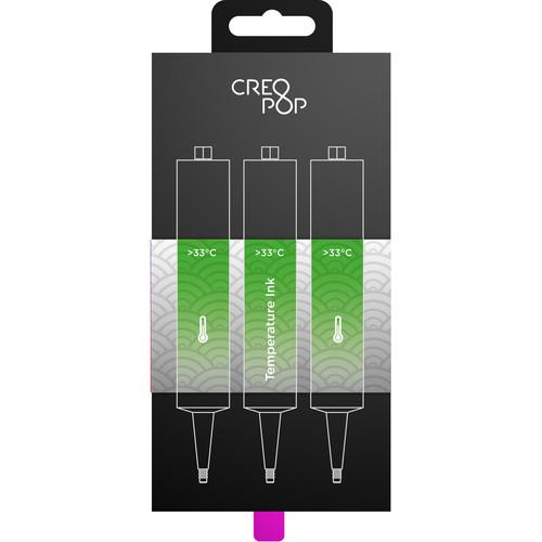CreoPop Temperature Sensitive Ink 3-Pack (Green) SKU012