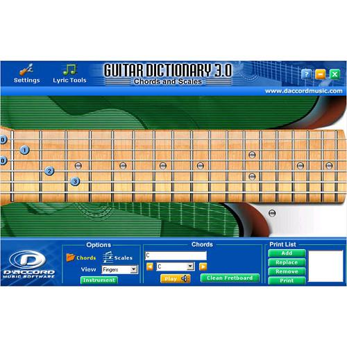 D'Accord Music Software Guitar Chord Dictionary GUITARCHORD