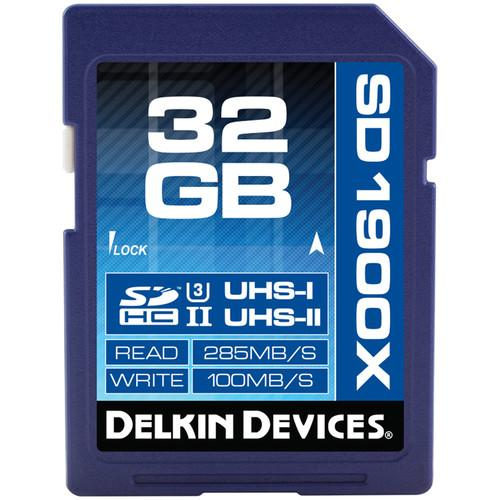 Delkin Devices 32GB UHS-II SDHC Memory Card (U3) DDSD190032GB