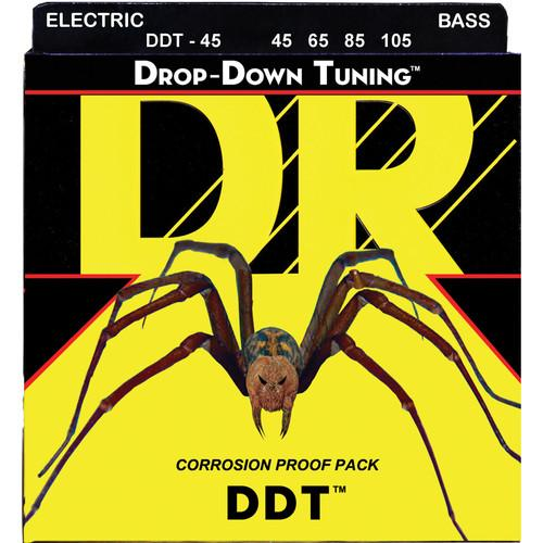 DR Strings DDT - Drop-Down Tuning - Electric Bass Guitar DDT-45