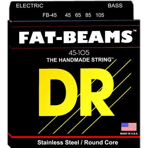 DR Strings Fat Beams Stainless Steel Electric Bass Guitar FB-45