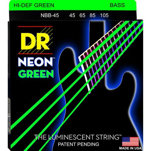 DR Strings HD Neon Green Bass Strings (45-105) NGB-45