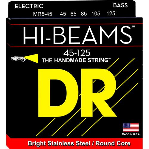 DR Strings Hi-Beam Stainless Steel Electric Bass Guitar MR5-45