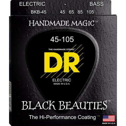 DR Strings K3 Black Beauties - Black-Coated Electric Bass BKB-45