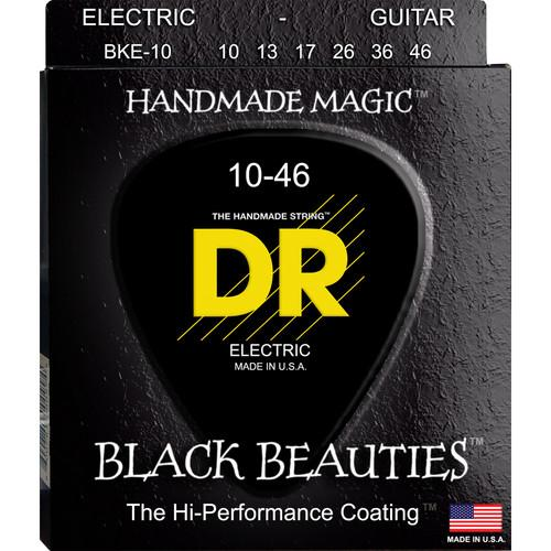 DR Strings K3 Black Beauties - Black-Coated Electric BKE-10