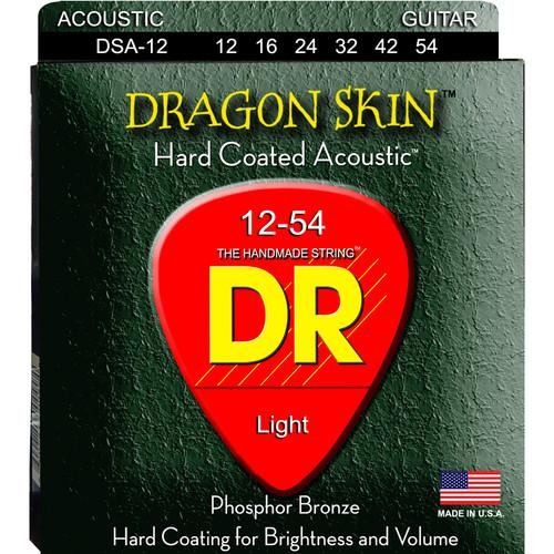 DR Strings K3 Dragon Skin - Acoustic Guitar Strings DSA-12