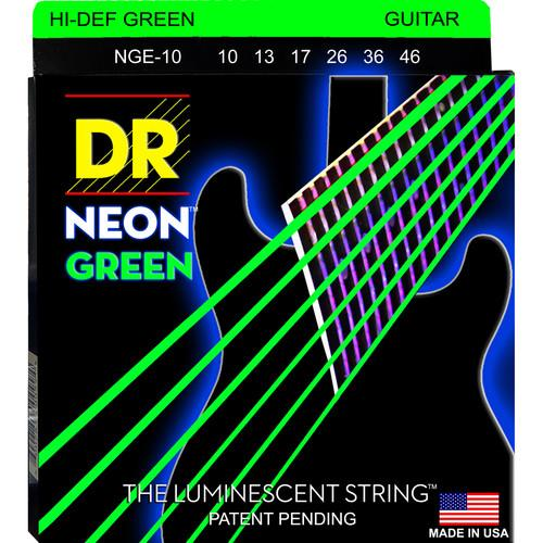 DR Strings NEON Hi-Def Green Coated Electric Guitar NGE-10