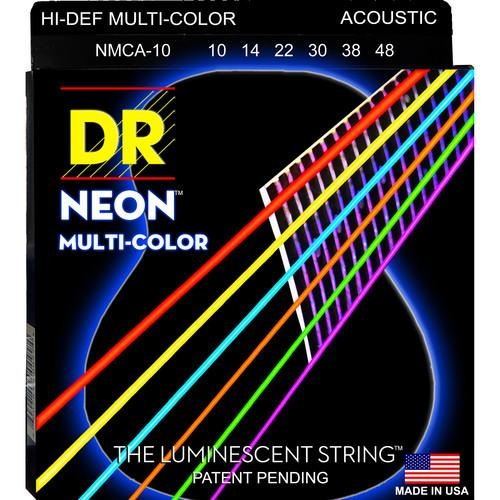 DR Strings NEON Hi-Def Multi-Color Coated Electric NMCE-10