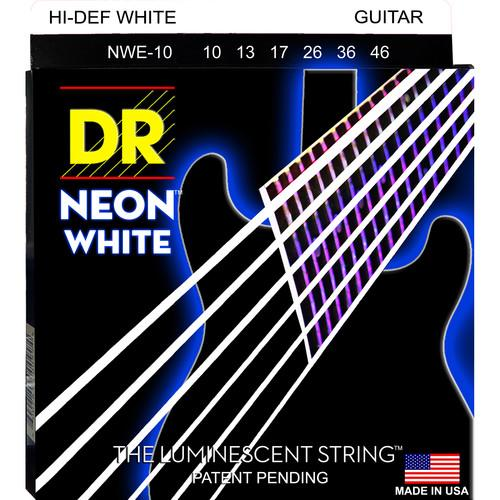 DR Strings NEON Hi-Def White Coated Electric Guitar NWE-10