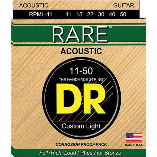 DR Strings Rare Phosphor Bronze Acoustic Guitar Strings RPML-11