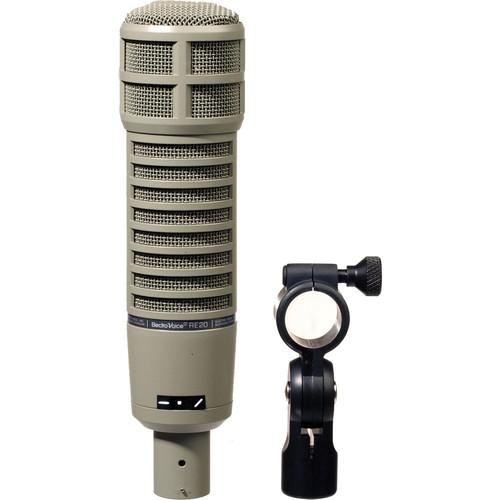 Electro-Voice RE20 Broadcast Announcer Mic with Cloudlifter