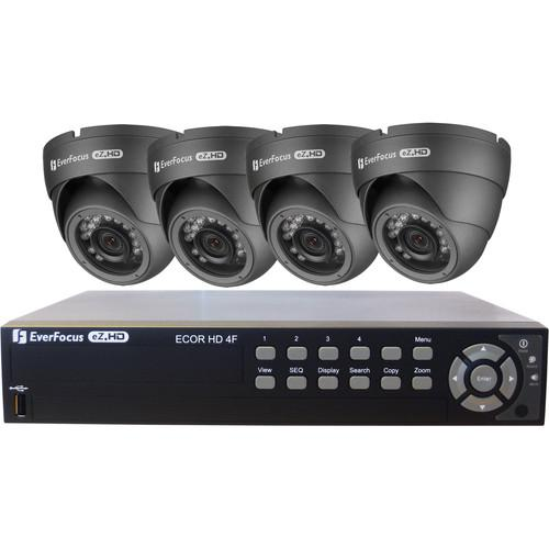 EverFocus 4-Channel HD DVR and Four 720p Analog AHDKIT2