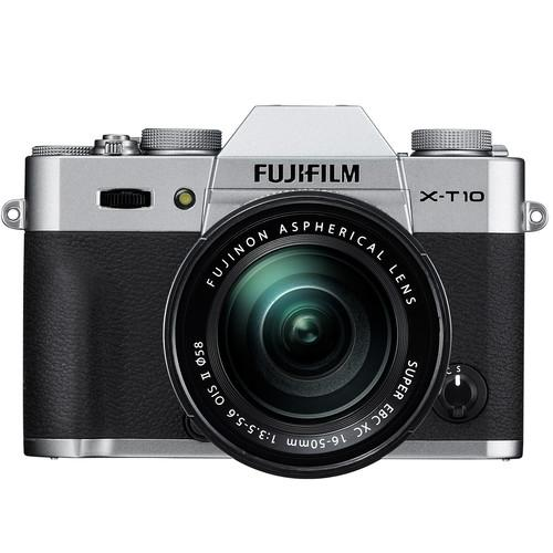 Fujifilm X-T10 Mirrorless Digital Camera with 16-50mm Lens