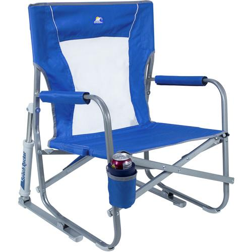 GCI Outdoor Beach Rocker Folding Chair (Saybrook Blue) 60083