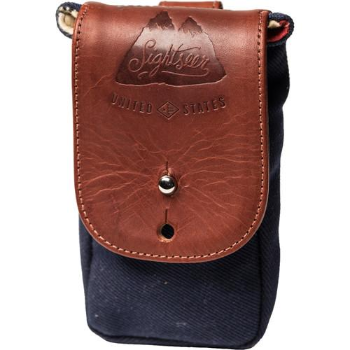 HoldFast Gear Sightseer Cell Pouch (Navy/Chestnut) SCP01-NV