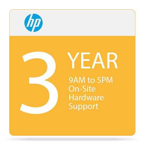 HP 3-Year On-Site Hardware Support with 4-Hour Response U1G20E