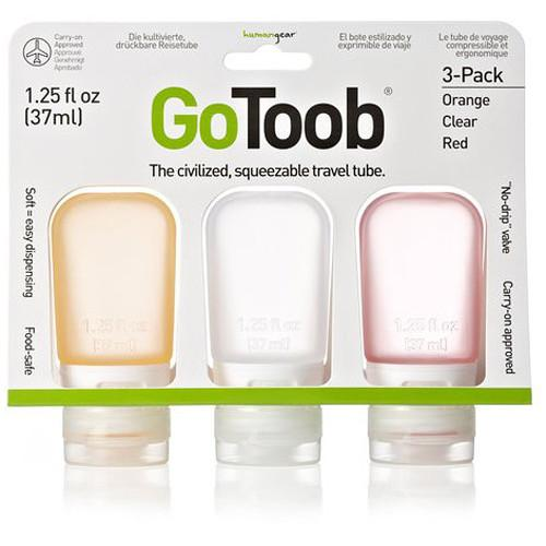 HUMANGEAR GoToob 3-Pack 1.25 oz Squeezable Travel Tubes HG-0182