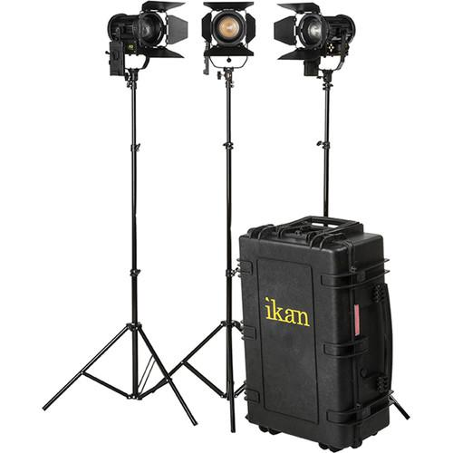 ikan Helia 40W Bi-Color LED Fresnel 3-Light Kit HF40-KIT