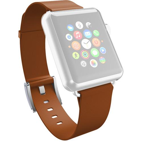 Incipio Premium Leather Band for Apple Watch WBND-009-CHSTNT