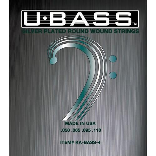 KALA Metal Round Wound U-Bass Strings (Set of 4) KA-BASS-4