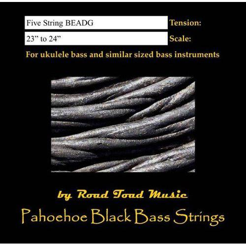 KALA Road Toad U-Bass Strings (5 String, Black) RT-BASS5