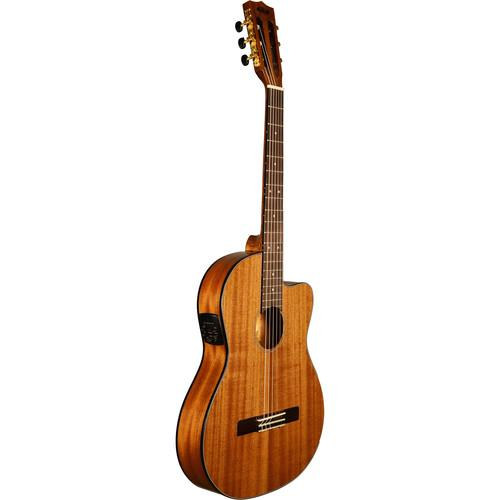 KALA Thinline Nylon String Acoustic Electric Guitar KA-GTR-MTN-E