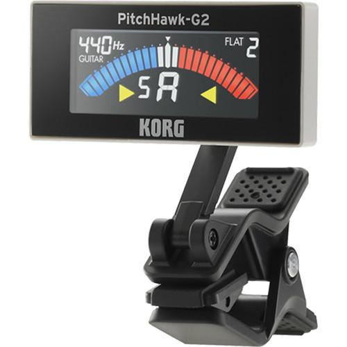 Korg PitchHawk G2 Clip-On Tuner for Guitar/Bass (White) AW3G2WH