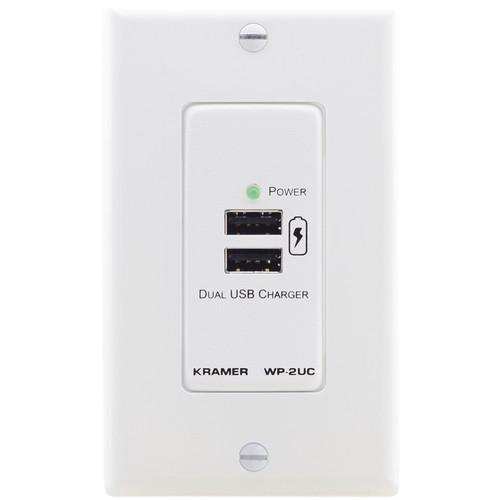 Kramer Dual USB Charger on Decora Wall Plate (2 x 5 VDC) WP-2UC