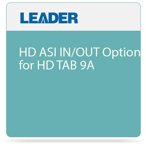 Leader HD ASI IN/OUT Option for HD TAB 9A HD ASI IN/OUT
