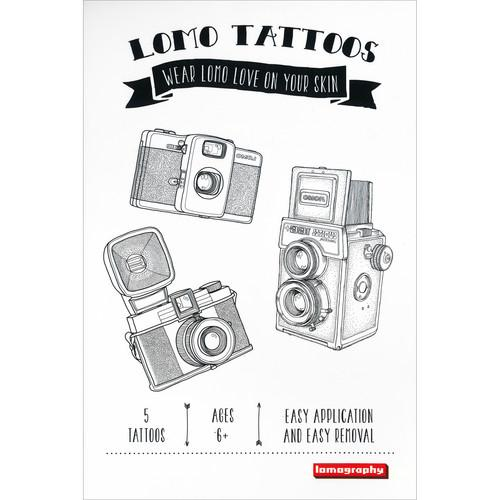Lomography Temporary Tattoos (5-Pack, Various Designs)