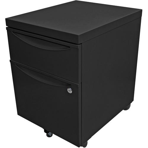 Luxor Mobile Pedestal File Cabinet with Locking KDPEDESTAL-BK