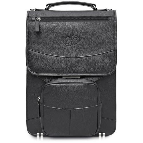 MacCase Premium Leather Brief Case for Laptops up LVB-BK-BP-PH