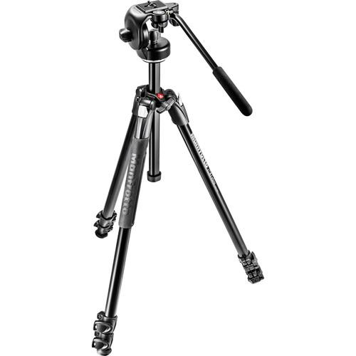 Manfrotto 290 Xtra Aluminum Tripod with 128RC MK290XTA3-2WUS