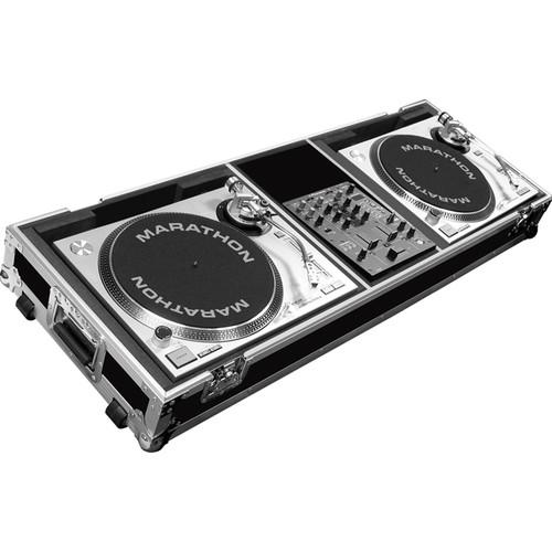 Marathon Battle-Style Coffin Case for 2 Turntables MA-DJ10WB