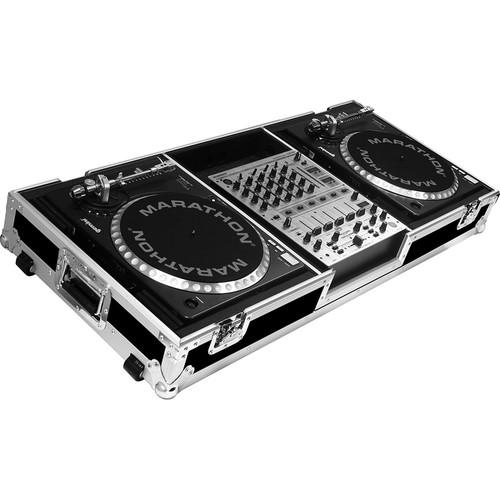 Marathon Battle-Style Coffin Case for 2 Turntables MA-DJ12WB