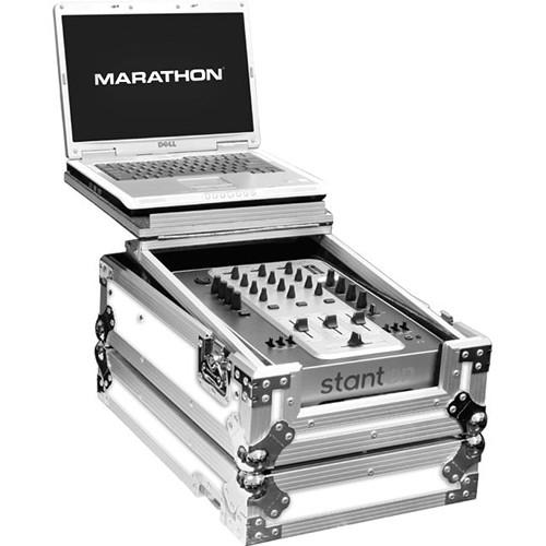 Marathon White Series Flight Road Case with Laptop MA-10MIXLTWH