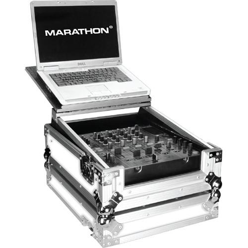 Marathon White Series Flight Road Case with Laptop MA-12MIXLTWH