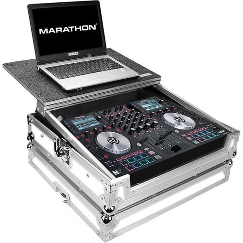Marathon White Series Flight Road Case with Laptop MA-NVLTWH