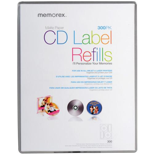 Memorex  White Matte CD Labels (300 Pack) 00403