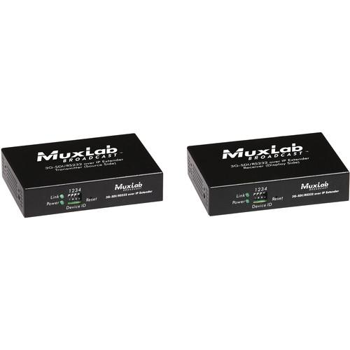 MuxLab 3G-SDI Over IP Extender Kit with PoE 500756