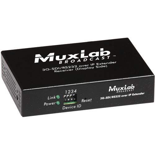 MuxLab 3G-SDI Over IP Receiver Unit with PoE 500756-RX